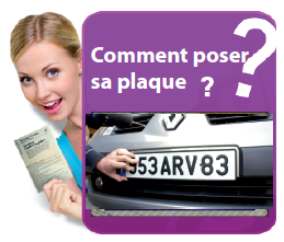 Image comment poser sa plaque d'immatriculiation?