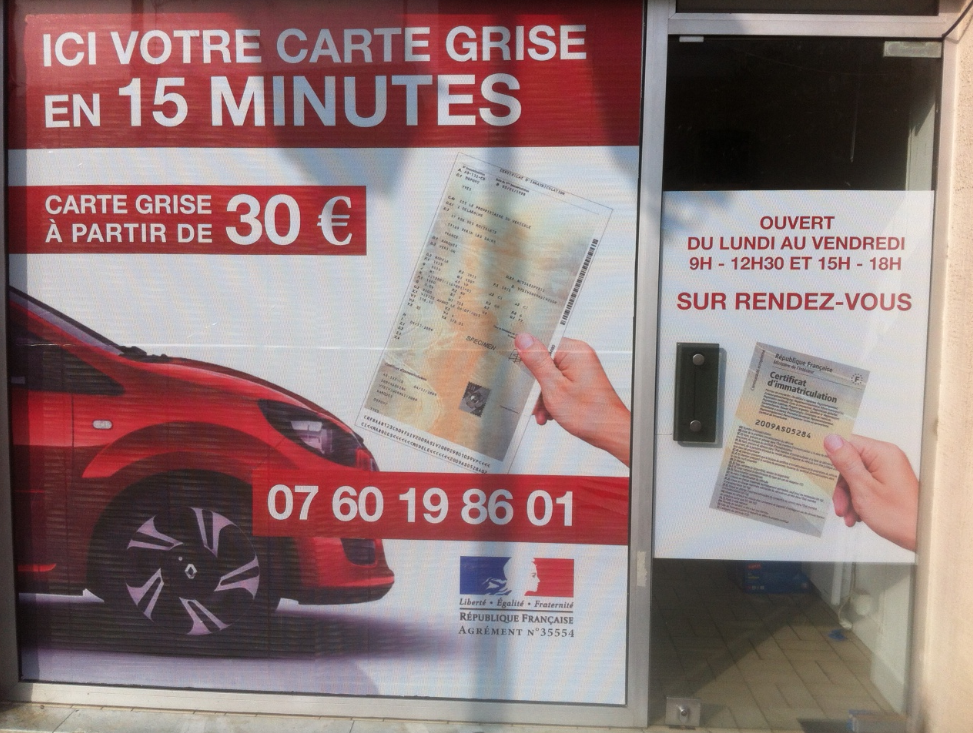 Carte grise garage carte grise formalite express le for Garage pour carte grise